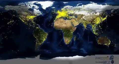 Fluxo aéreo em 24hs no mundo