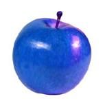 A maçã é azul