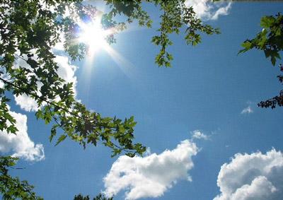 O sol brilha lá fora