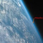 Proporção entre o diâmetro da Terra e as espessuras da atmosfera e dos oceanos