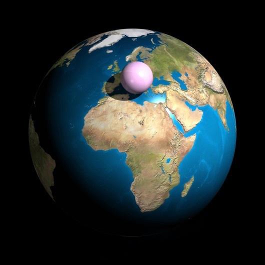 Proporção da atmosfera em relação a Terra