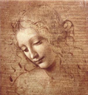 Cabeça de Mulher (La Scapigliata), 1508 - Leonardo da Vinci