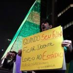 Imagens dos protestos no Brasil