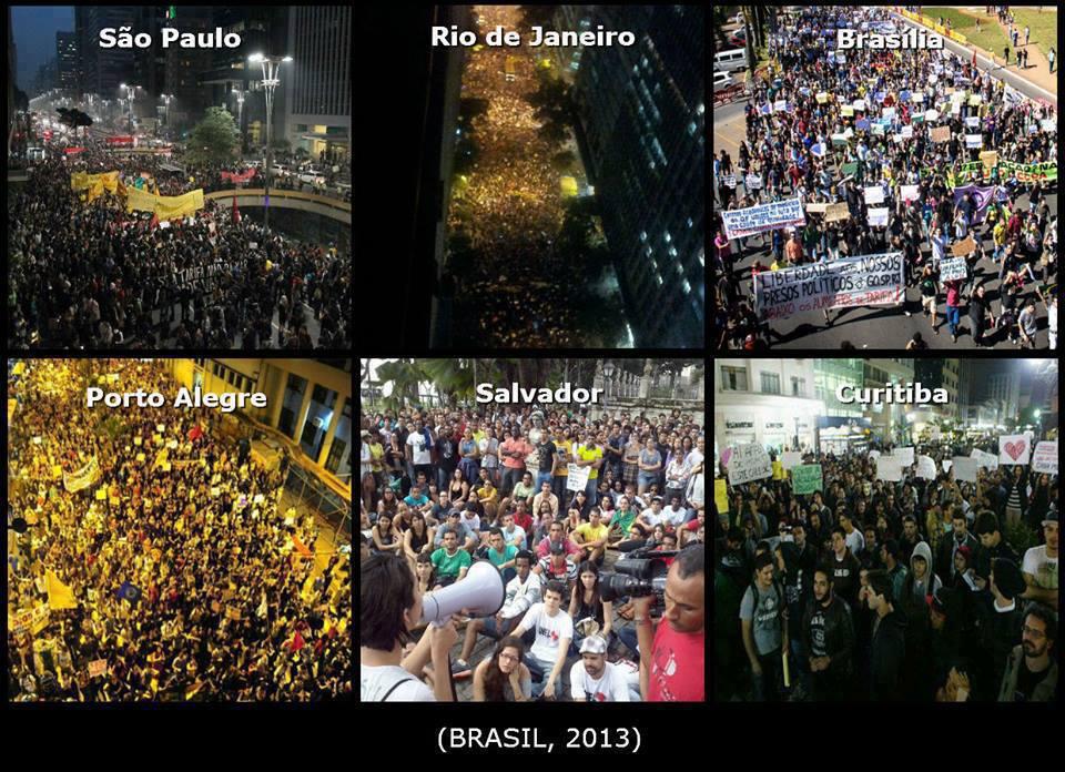 Protestos por todo o Brasil