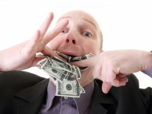 Uma justa punição para a corrupção: fazer o corrupto COMER o dinheiro que roubou.