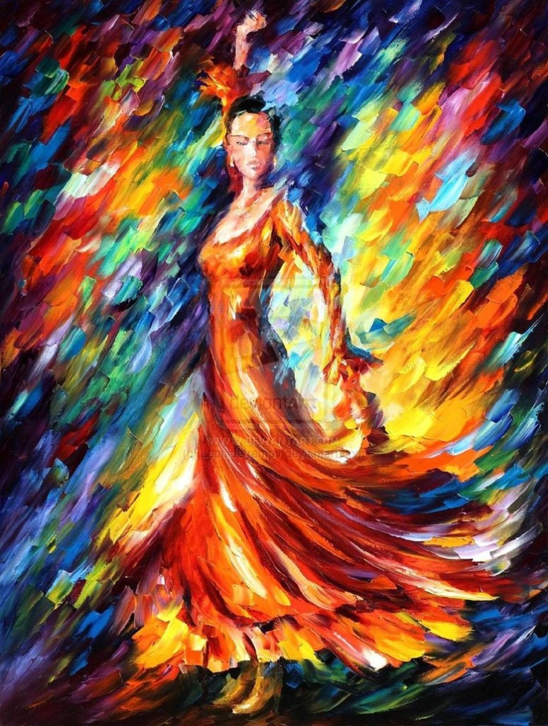 Leonid Afremov - Dançarina de Flamenco