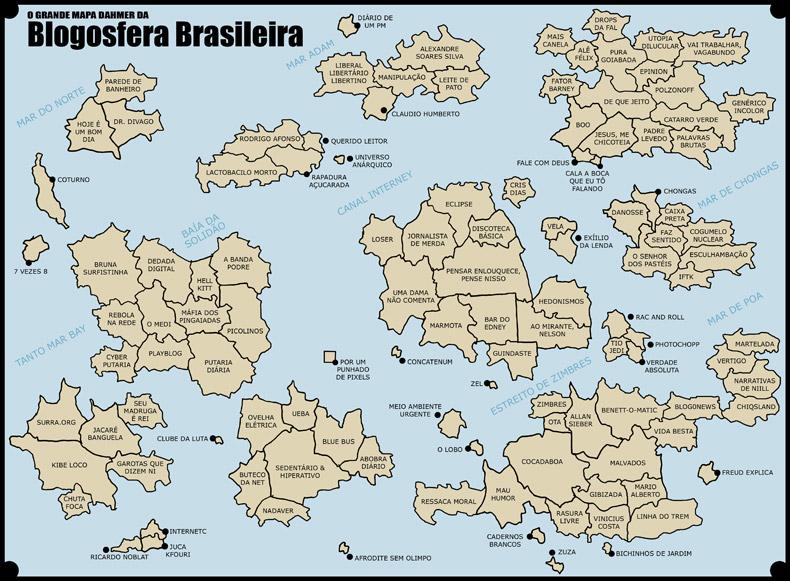 Mapa da Blogosfera Brasileira de cerca de 2009
