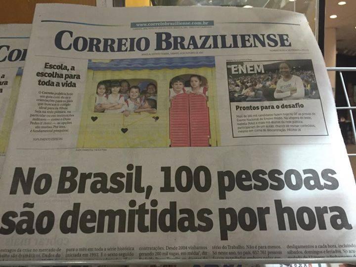 100 pessoas demitidas por hora no Brasil