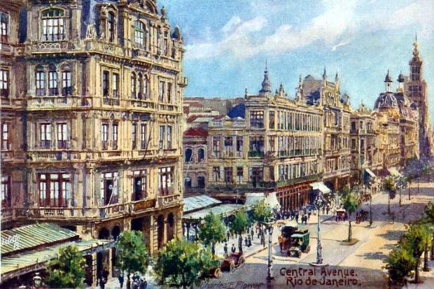 Avenida Rio Branco - 1930 - Inspiração para Artistas