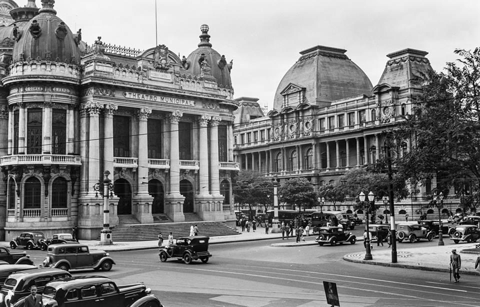 Avenida Rio Branco - 1934 - 1936 - Fonte Deutsche Fotothek - Fotógrafo Erwin Scheu