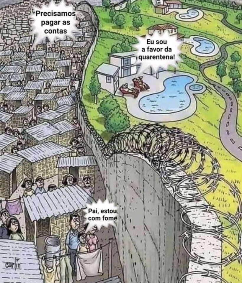 A hipocrisia da classe média abastada. Nojo
