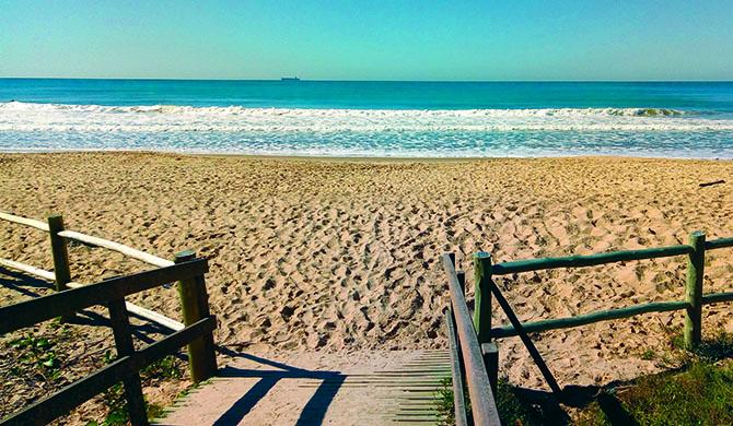 Maravilhosa é a praia... ...assim, na foto
